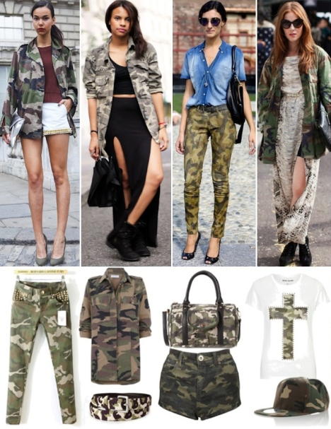 Camoufleuge Fashion looks